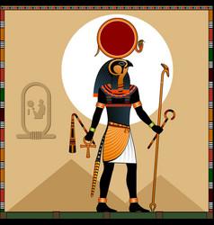 Religion ancient egypt sun god ra vector