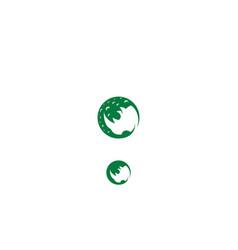 rhino head logo icon vector image
