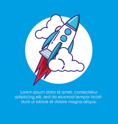 rocket start up icon vector image