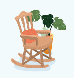 rocking chair flat style vector image