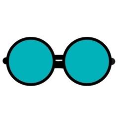 Round frame glasses icon vector