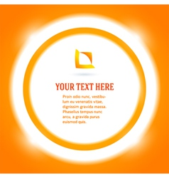 Round frame message bright orange background vector