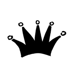 royal crown drawn by hand in the style of doodle vector image