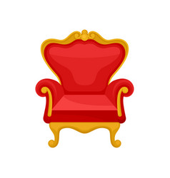 Royal throne heraldic symbol monarchy attribute vector