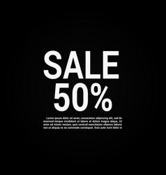 sale banner layout design vector image
