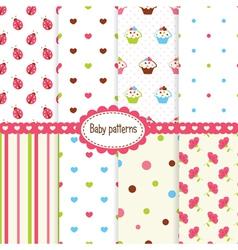 Set bagirl patterns vector