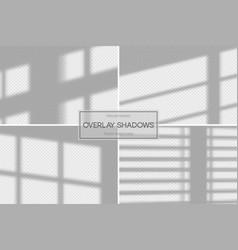 Shadow overlay effect set overlay shadow vector