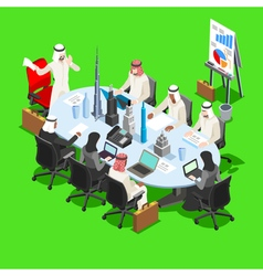 Sheik Businessman Isometric People vector image