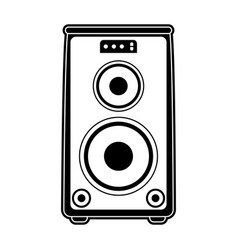 Speaker amplifier technology vector