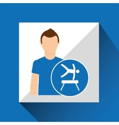 Sport man concept artistic gymnastic icon design vector