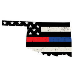 State oklahoma police and firefighter support vector