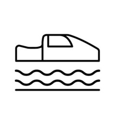 Symbol of Personal Hovercar Thin line Icon of vector image