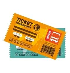 Ticket travel bus icon vector