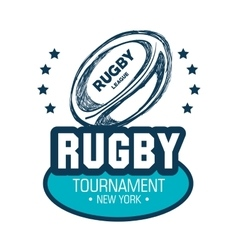 Tournament rugby ball goal white graphic vector