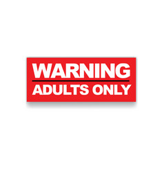 Warning adults only vector