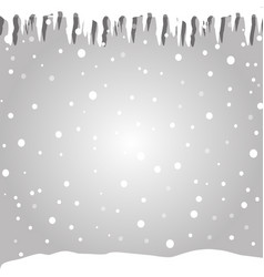 Winter silver snowy background in cartoon style vector