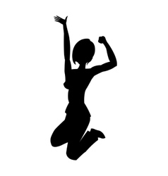 Woman jumping icon vector