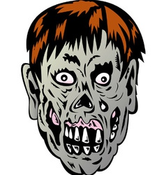 Zombie Skull Face Monster vector