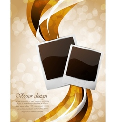 Bright background with photo frames vector image vector image