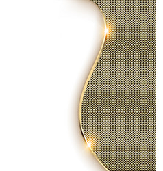 gold background with a wave and shine vector image vector image