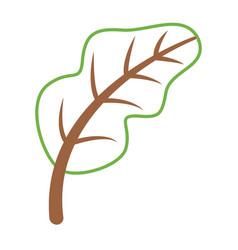 leaf nature fresh ripe icon vector image
