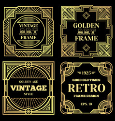 luxury poster design with gold frames in vector image vector image