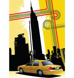 ny background with taxi image vector image vector image