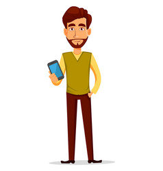 business man with beard vector image