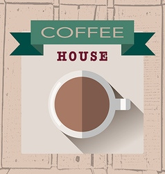 coffee house logoin flat design style on vector image