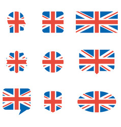 english flag icons vector image vector image