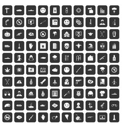 100 oppression icons set black vector image vector image