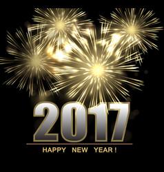 happy new year 2017 background vector image vector image