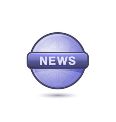 news media icon on white background vector image vector image
