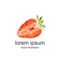 polygonal strawberry vector image