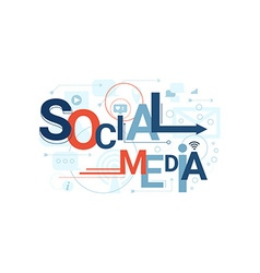 Social Media Word Typography vector image vector image