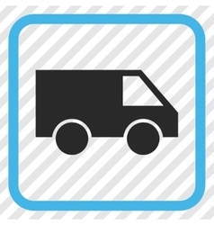 Van Icon In a Frame vector image
