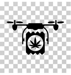 drone cannabis delivery icon vector image