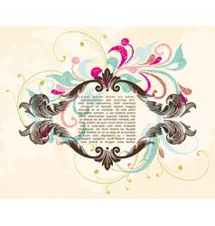 Elegance vintage frame for your text vector image vector image