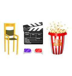movie elements vintage cinema entertainment and vector image