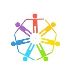 rainbow gay logo vector image