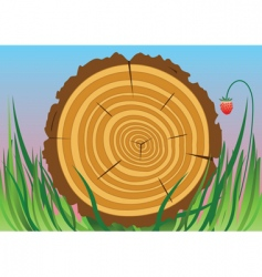 wooden cut vector image vector image