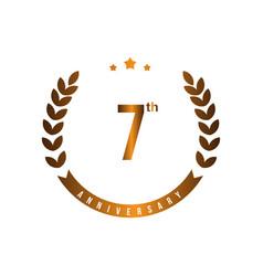7 th anniversary template design vector