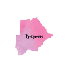 abstract botswana map vector image