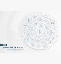 abstract construction technology background vector image
