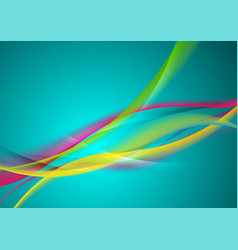 Abstract vibrant shiny waves elegant background vector