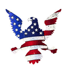 American flag and eagle vector