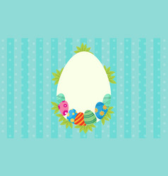 art of easter egg frame vector image