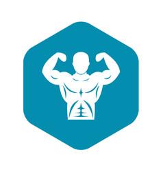 Athletic man torso icon simple style vector