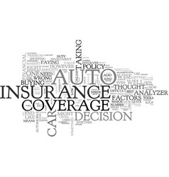 Auto coverage analyzer text word cloud concept vector