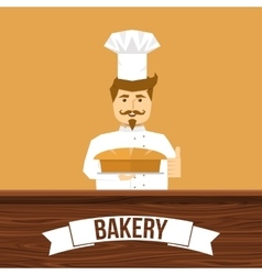 Baker And Bread Design vector image